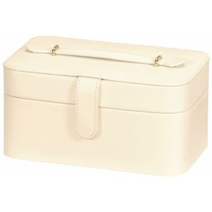 Mele & Co Anne Ivory Bonded Leather Jewellery Box