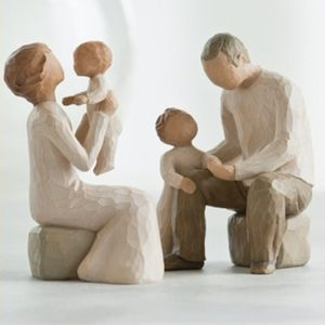 Willow Tree Figurines Set Grandparents with Two Grandchildren