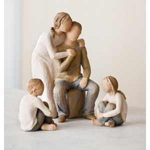 Willow Tree Figurines Set Mother & Father with Son & Daughter Option 1
