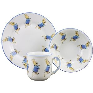 Peter Rabbit Plate Bowl & Mug China Breakfast Set