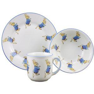 Peter Rabbit Plate Bowl & Mug China Breakfast Set