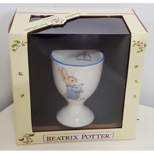 Reutter Porcelain Peter Rabbit design Egg Cup with blue rim
