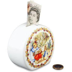 Beatrix Potter Family China Money Bank