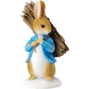 Beatrix Potter Peter Rabbit Figurine - Peter Rabbit Carrying Sticks