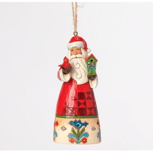 Heartwood Creek Hanging Ornament Santa with Birdhouse