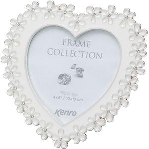 "Kenro Chloe White Series Heart Photo Frame 4x4"""