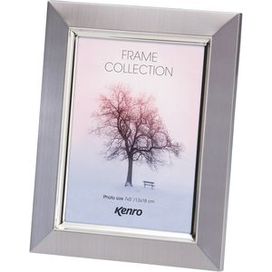 "Madison Frame 6x4"" pewter with silver inner border"
