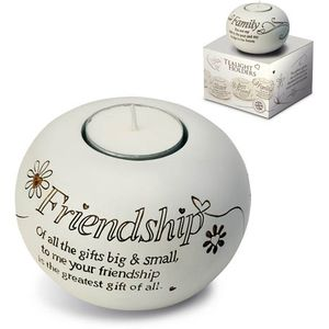 Said with Sentiment Candle Holder: Friendship