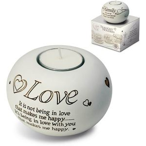 Said with Sentiment Candle Holder: Love