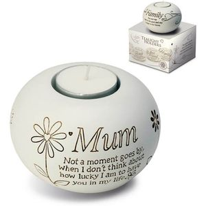 Said with Sentiment Candle Holder: Mum