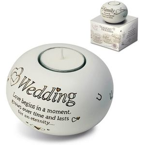 Said with Sentiment Candle Holder: Wedding