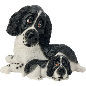 Pets with Personality Springer & Pup (Black & White)