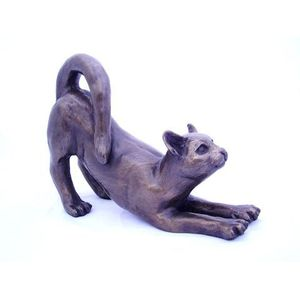 Oriele Cold Cast Bronze Figurine - Stretchy Cat