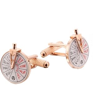 Ships Engine Room Telegraph Cufflinks Rose Gold Finish