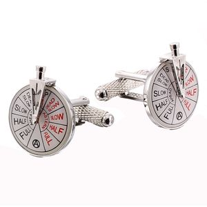 Ships Engine Room Telegraph Cufflinks - Silver Finish
