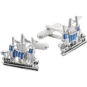 Square Galleon Sailing Ship Cufflinks