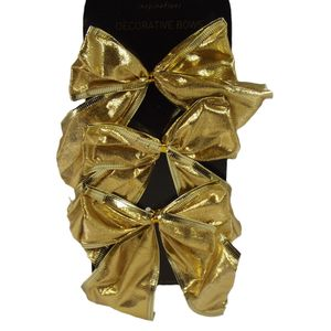 Decorative Gold Bows Set of 6