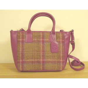 Mala Leather Abertweed Grab Bag - Magenta Tweed