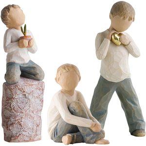 Willow Tree Figurines Set Siblings - Three Brothers