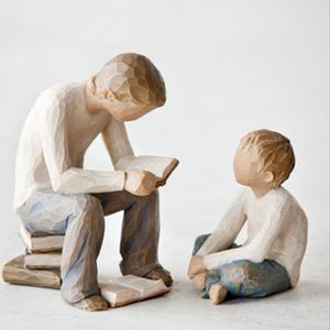 Willow Tree Figurines Set Siblings - Two Brothers