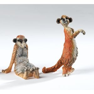 Mini Kingdom Pair of Meerkats Figurines