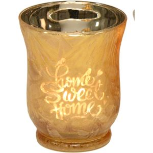 Tea Light Candle Holder - Home Sweet Home (Gold)