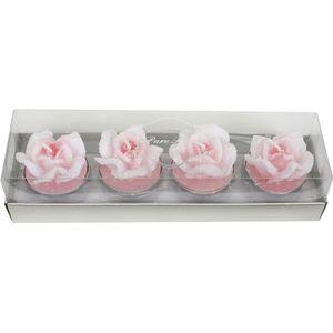 Rose Shaped Unscented Tea Lights 4 Pack