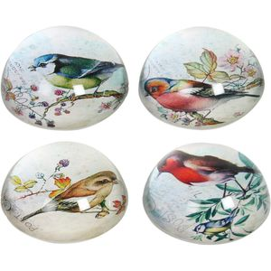Straits Set of 4 Bird Paperweights