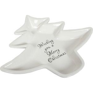 Christmas Tableware - Nibble Plate Wishing You a Merry Christmas