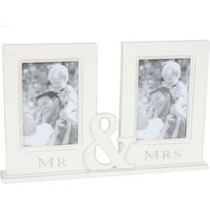 Mr and Mrs Couple Double Photo Frame
