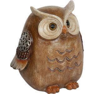 Owl Figurine (Wood Effect) 12.5cm
