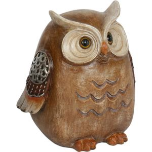 Wood Effect Owl Figurine 23.0cm