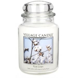 Village Candle Large Jar 26oz - Pure Linen