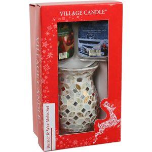 Village Candle Burner & Melt Christmas Gift set