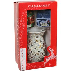 Village Candle Christmas Gift Set - Wax Melt Burner & Wax Melts