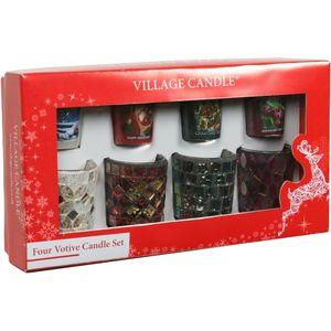 Village Candle Votive Christmas Gift Set