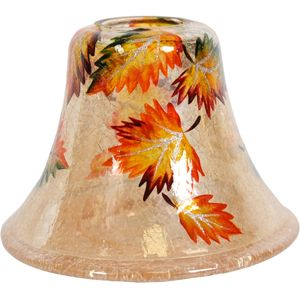 Aroma Jar Candle Lamp Shade: Amber Leaves