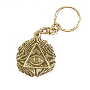 English Pewter All Seeing Eye Keyring