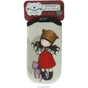 Santoro Gorjuss Media & Phone Sleeve - Purrrrrfect Love