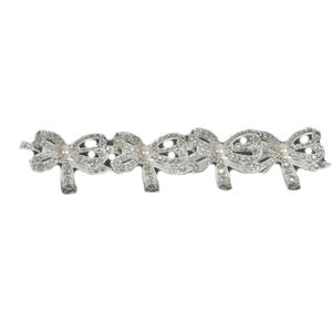 Diamante Bows Set of 4 Napkin Rings