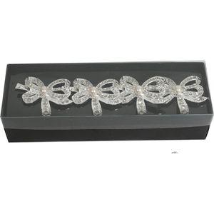 Napkin Rings Set of 4 - Diamante Bows