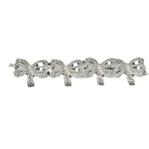 Set of 4 Napkin Rings - Diamante Bows