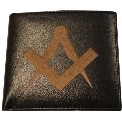 Pell Mell Gents Leather Wallet - Masonic Compass & Square Design
