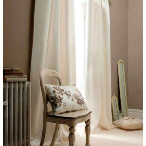 """Faux Silk Curtains 46x54"""" (eyelets) Cream"""