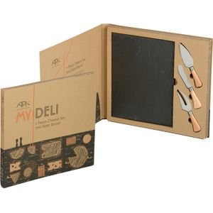 My Deli 3 Piece Cheese Knife & Slate Board gift set