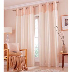 """Catherine Lansfield Opulent Velvet Cream Eyelet Curtains 66"""" x 54"""""""