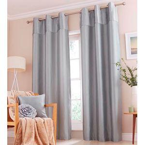 """Catherine Lansfield Opulent Velvet Duckegg Eyelet Curtains 46"""" x 72"""""""