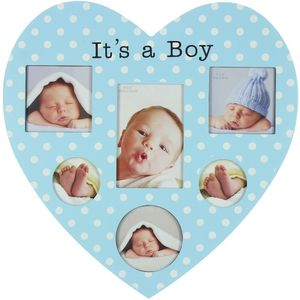 Juliana Impressions New Baby Heart Shaped Collage Photo Frame - Its a Boy
