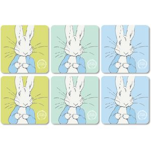 Peter Rabbit Contemporary Design Set of 6 Coasters