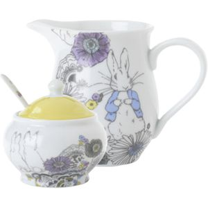 Peter Rabbit Contemporary Design Creamer & Sugar Bowl